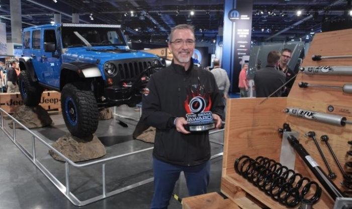 "For a fifth consecutive year, the Jeep® Wrangler has been recognized as the ""Hottest 4x4-SUV"" at the 2014 Specialty Equipment Market Association (SEMA) trade show at the Las Vegas Convention Center."